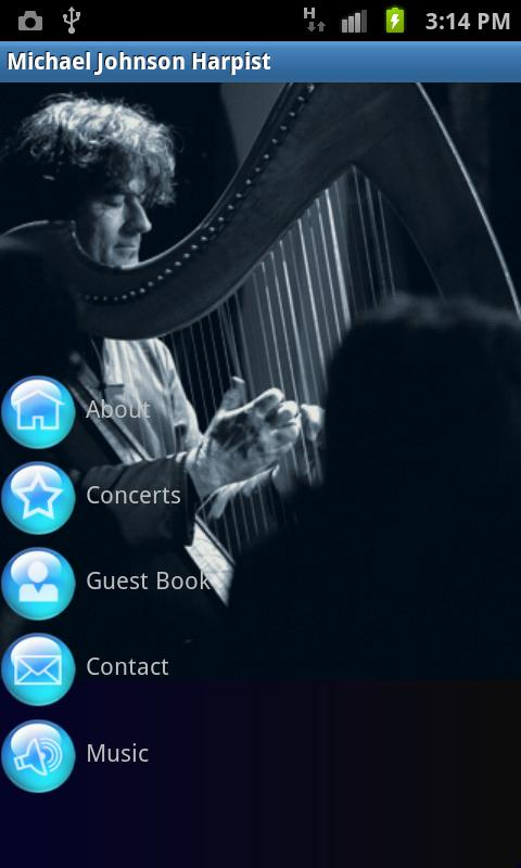 Harpist Michael Johnson- screenshot