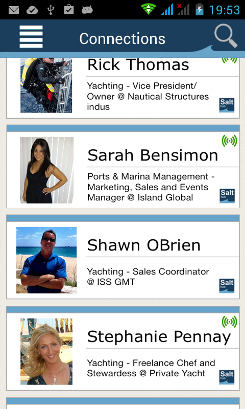 SaltHub Connect - Yachting- screenshot