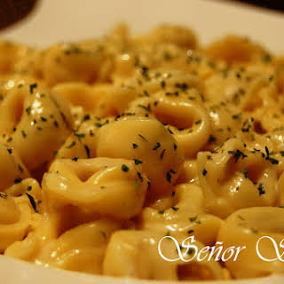 Pasta with Gouda Cheese Sauce.