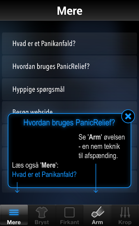 Panicrelief Free - stop angst – screenshot