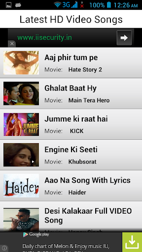 Latest Hindi Video Songs HD