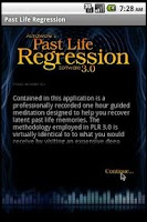 Screenshot of Past Life Hypnosis Software