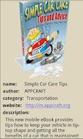 Screenshot of Simple Car Care