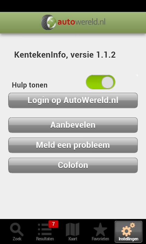 KentekenInfo - screenshot