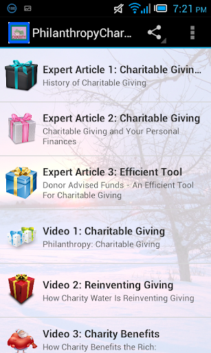 Philanthropy Charitable Giving