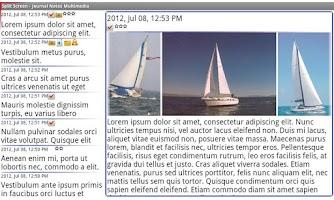 Screenshot of Journal Notes Multimedia