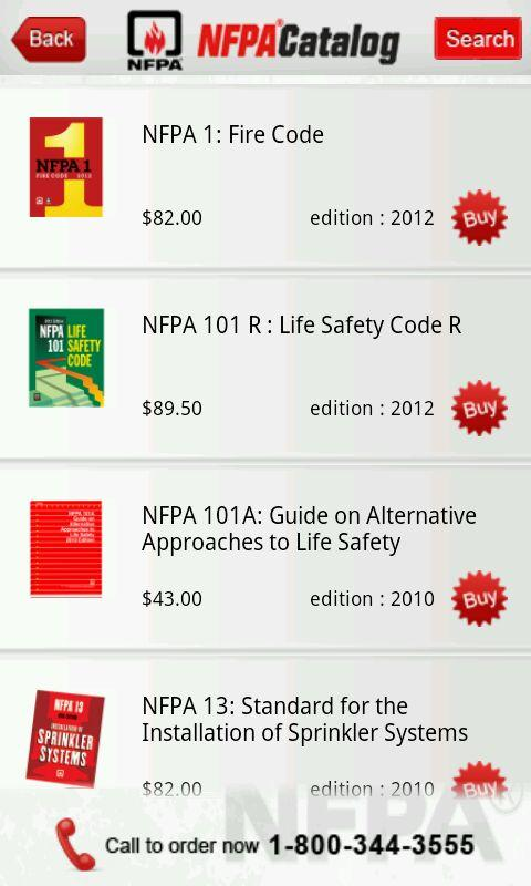 NFPA Catalog - screenshot