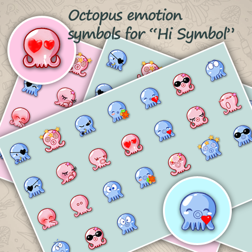 Octopus emotion symbols