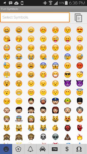 玩免費個人化APP|下載All in one Symbols Emoji app不用錢|硬是要APP