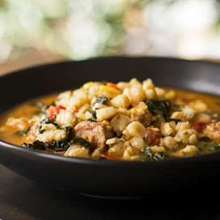 Posole' with Italian Sausage and Kale