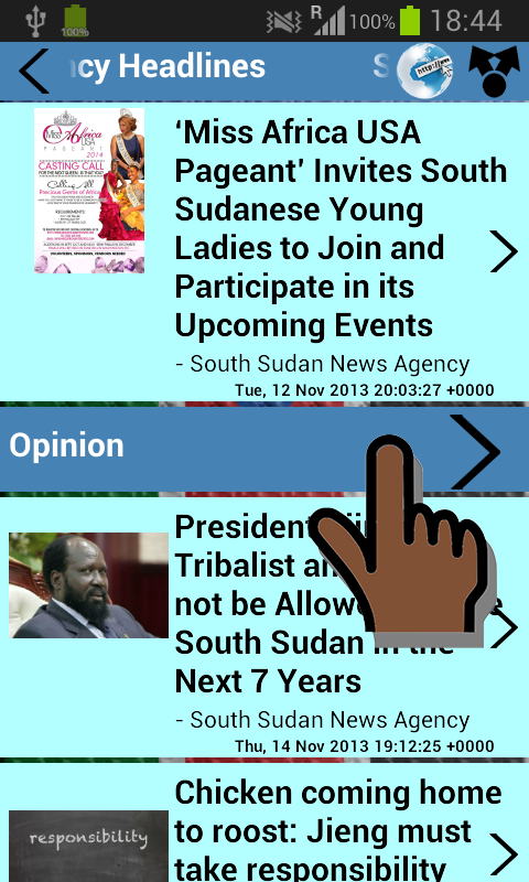 South Sudan Newspapers - screenshot