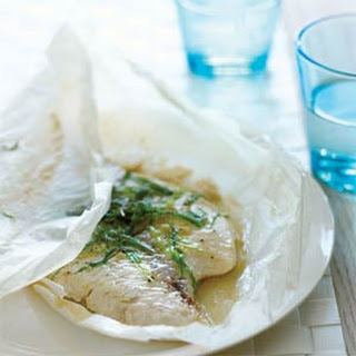 Green Onion and Sesame Parchment-baked Fish.