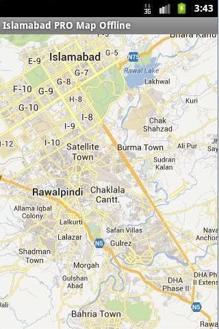 Islamabad Offline Map PRO