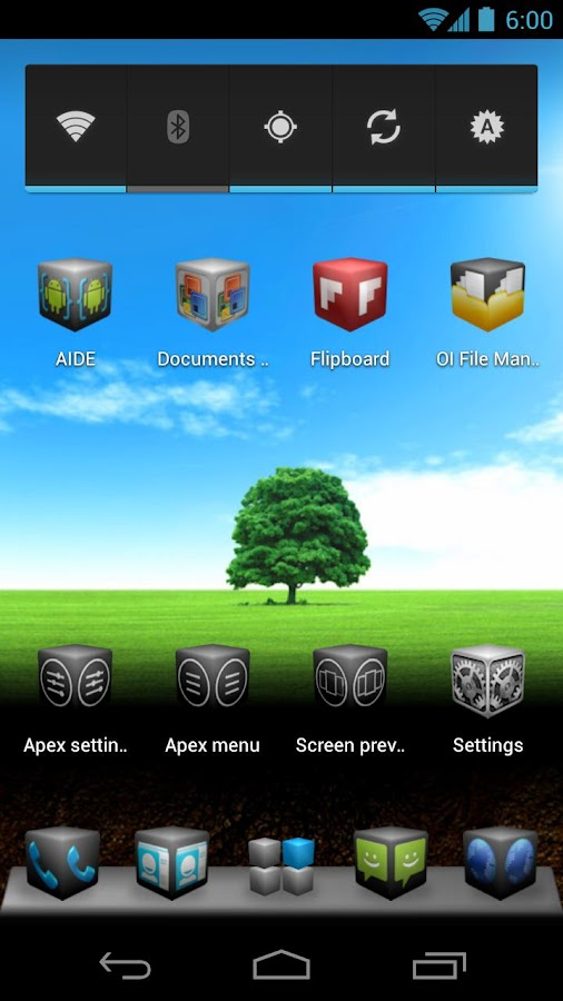 Cube Theme 4 Apex Launcher- screenshot