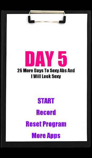 10日の腹部ワークアウト
