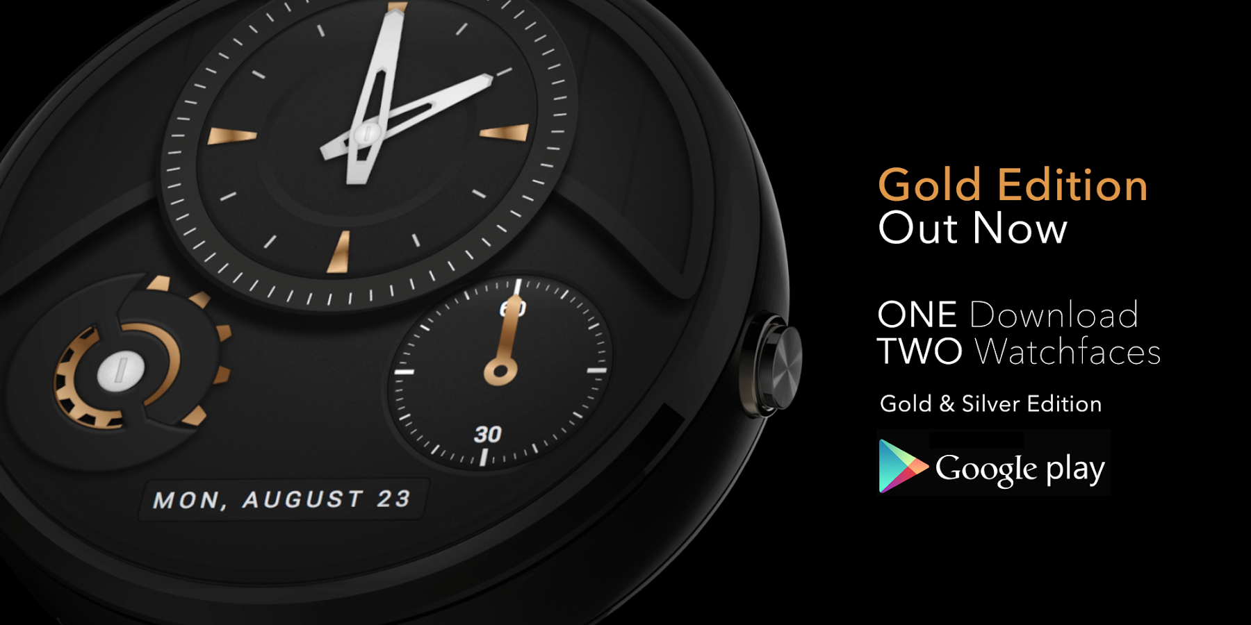 Faces for moto 360 - About Time Watch Face Screenshot