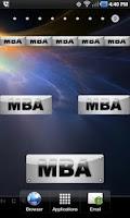 Screenshot of MBA doo-dad