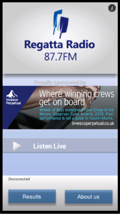 Regatta Radio - screenshot