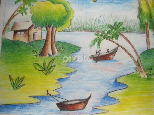 Nature by prajwal udchankar drawing all drawing my nature