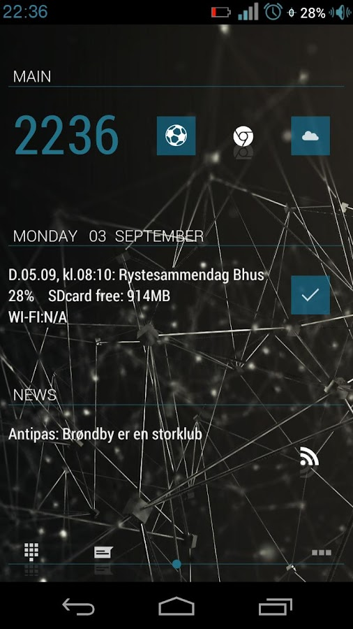 JellyBeanBlue theme - screenshot