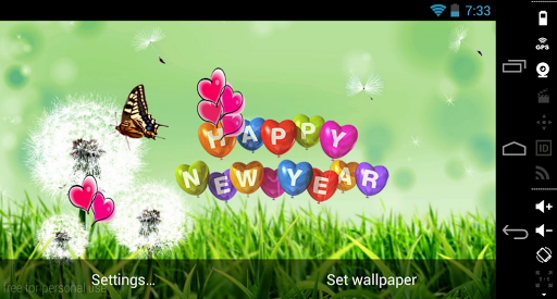 Butterfly HappyNewYear LWP