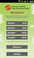 Screenshot of SMS Praha