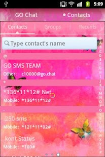 GO SMS Pro Theme Pink Nice - screenshot thumbnail