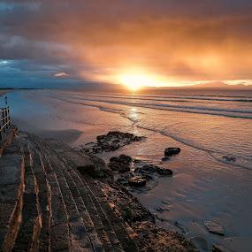 by Randall Langenhoven - Landscapes Sunsets & Sunrises ( beach, steps, capetown, sunrise, landscape )