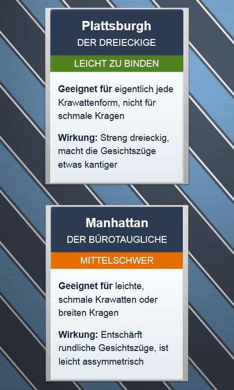 Krawatten binden - DEUTSCH - screenshot