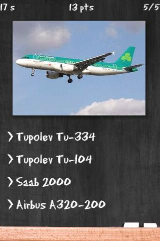 Airplane Quiz- screenshot
