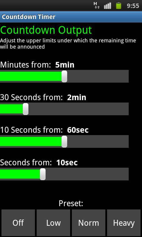 SpeechCountdownTimer- screenshot