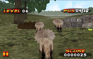 Screenshot of Jurassic Race