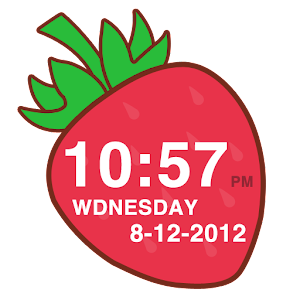 Strawberry Clock Widget APK