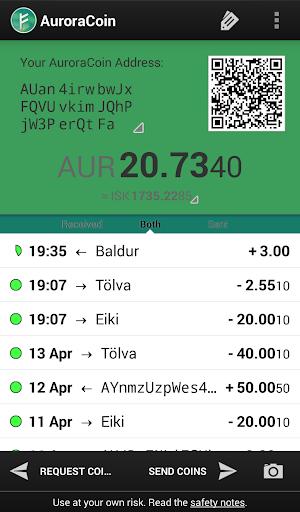 Auroracoin Wallet