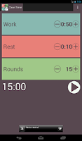 Screenshot of Clean Interval Timer