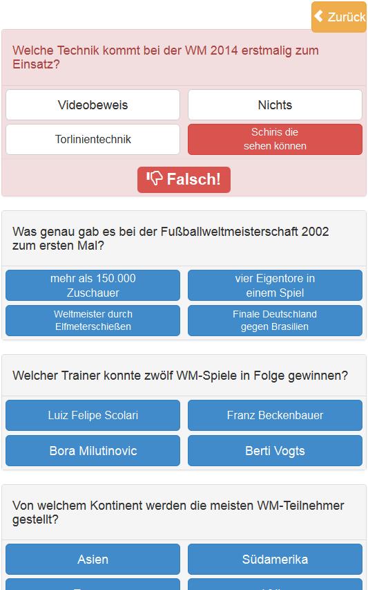 Wm 2014 Quiz - screenshot