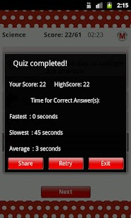 ReadnTick Science Quiz - screenshot thumbnail