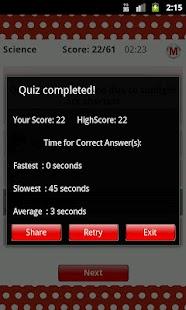 ReadnTick Science Quiz - screenshot thumbnail