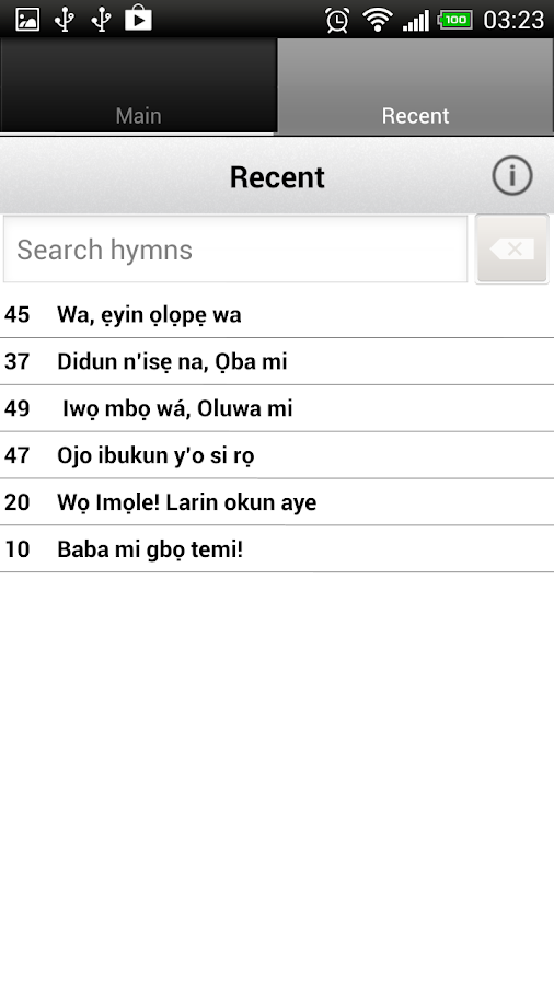 Apẹrẹ Iwe Orin Mimọ (+English) - screenshot