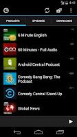 Screenshot of Podkicker Podcast Player