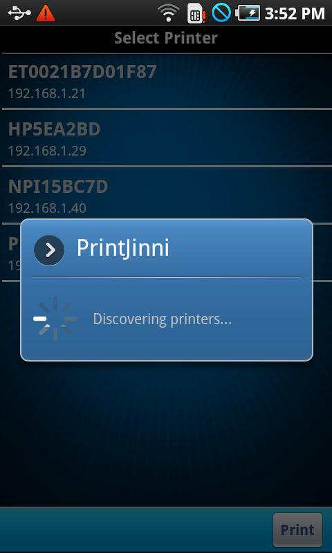 PrintJinni Mobile Printing App - screenshot