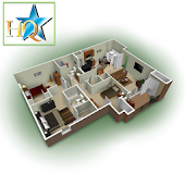 3D Apartment-House Plans