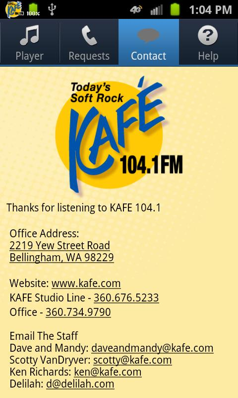 104.1 KAFE - screenshot