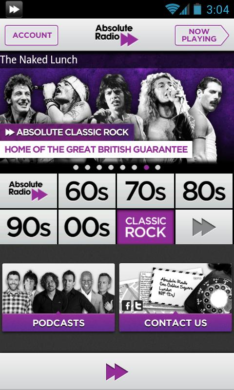Absolute Classic Rock - screenshot