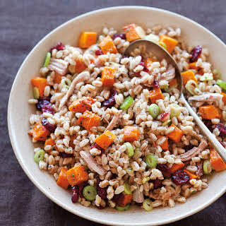 Farro Salad with Turkey and Roasted Squash.