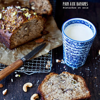Pistachio, Coconut, Maple, and Banana Bread.