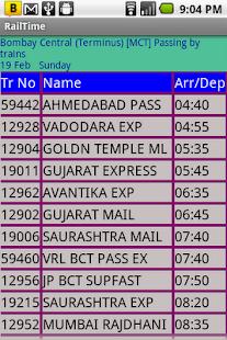 IndianRailway Offline TimeTabl- screenshot thumbnail