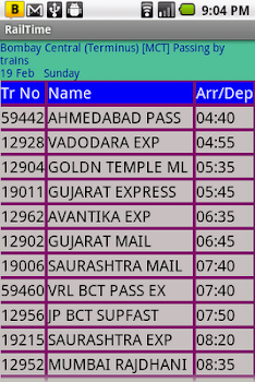 IndianRailway Offline TimeTabl