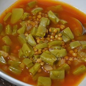 Lentil Soup With Nopal