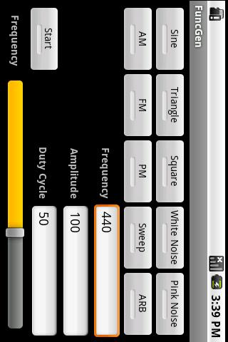 FuncGen Signal Generator- スクリーンショット